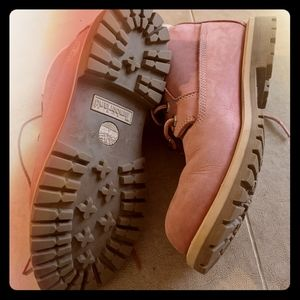 Pink Timberland Noots